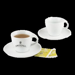 juego de taza con plato