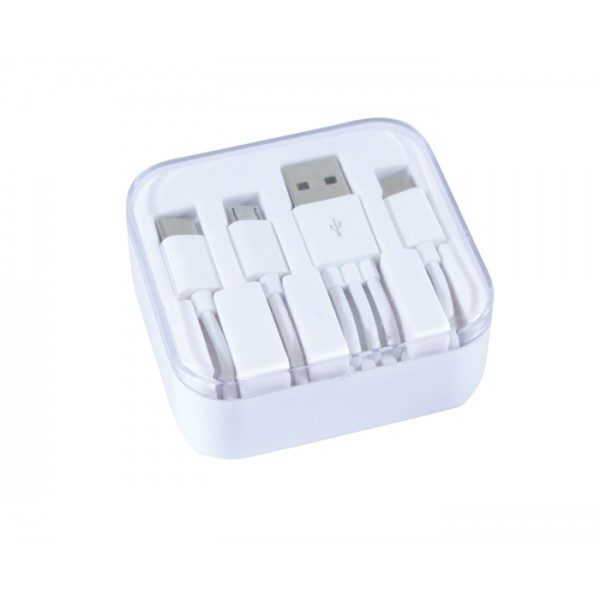 cable con adaptador iphone y android