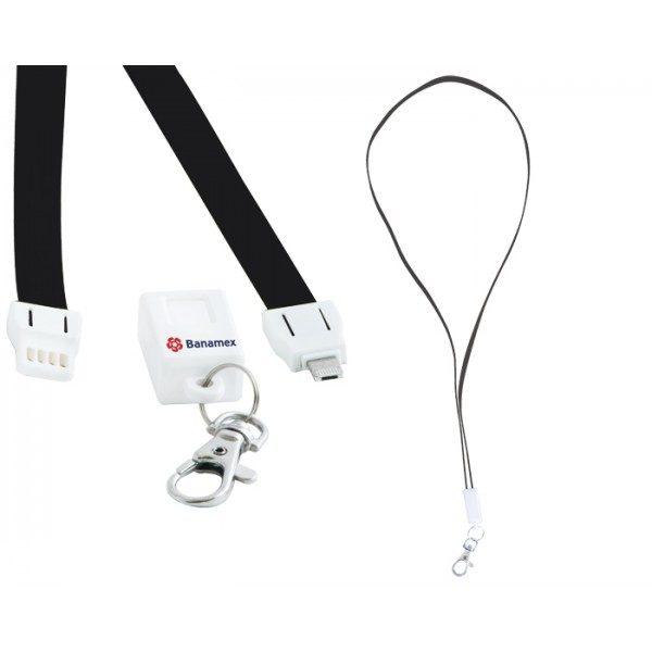 Collar cargador 2 en 1, compatible con Android y Iphone.