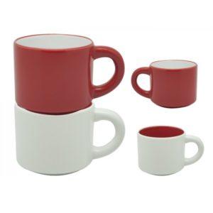 duo tazas cerámicas bicolor