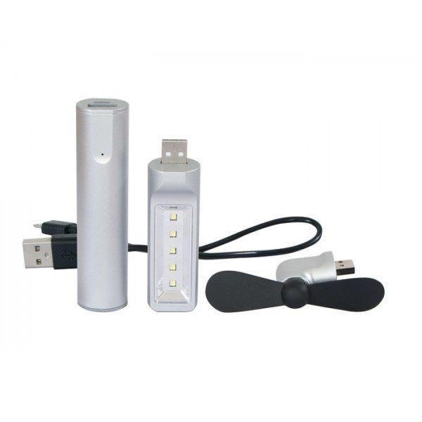 kit bateria, lampara led y venitlador