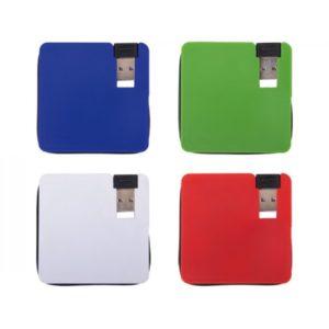 multi conector con 4 entradas USB con cable extensor.