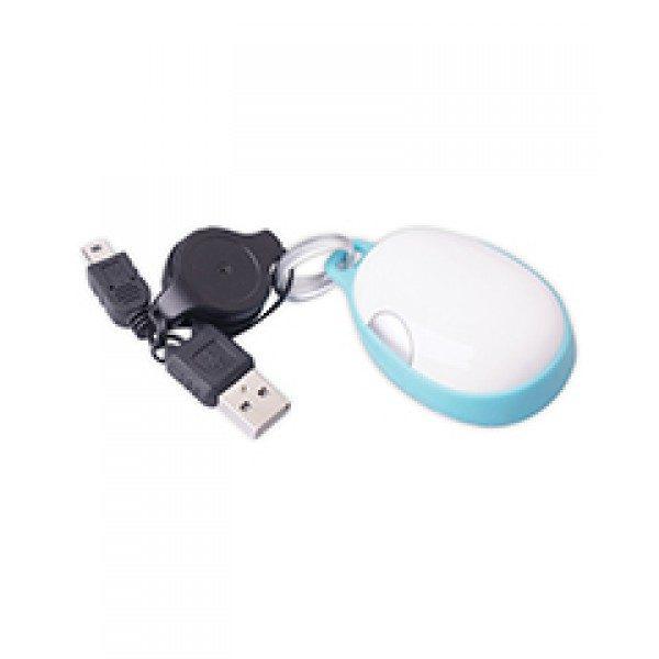 mouse optico con cable retráctil