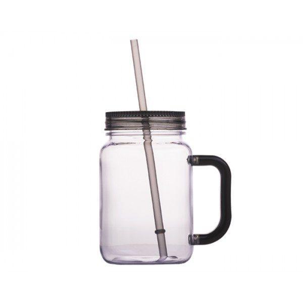tarro plastico transparente con tapa