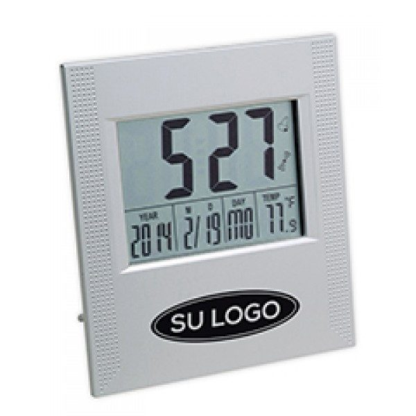 Reloj Wuhan con termómetro y calendario